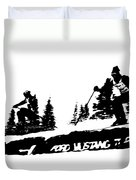 Racing Over The Ski Jump Duvet Cover