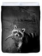 Racoon Bandit Duvet Cover