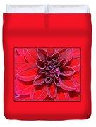 Radiant In Red - Dahlia Duvet Cover