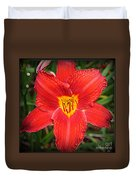 Radiant In Red - Daylily Duvet Cover