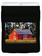 Radiant Red Barn Duvet Cover