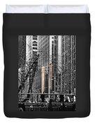 Radio City At Christmas - Black And White Duvet Cover