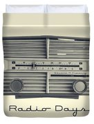 Radio Days Duvet Cover by Edward Fielding