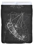 Radio Telescope Patent From 1968 - Charcoal Duvet Cover