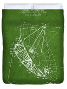 Radio Telescope Patent From 1968 - Green Duvet Cover
