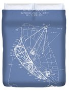 Radio Telescope Patent From 1968 - Light Blue Duvet Cover