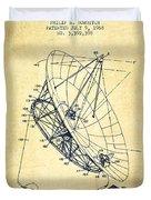 Radio Telescope Patent From 1968 - Vintage Duvet Cover