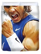 Rafael Nadal Artwork Duvet Cover