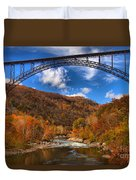 Rafting Down The New River Gorge Duvet Cover