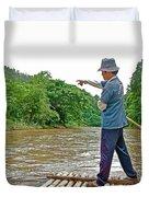 Rafting Guide On Mae Thang River Near Chiang Mai-thailand Duvet Cover