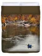 Rafting The New River Duvet Cover