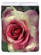 Ragged Satin Rose Duvet Cover