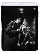 Rahsaan Roland Kirk At Penthouse Seattle 1967 Duvet Cover