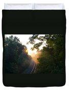 Rail Road Sunrise Duvet Cover