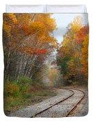 Rail Through The Colors Duvet Cover