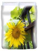 Railed Sunflower Duvet Cover