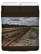 Railroad Interlocking Duvet Cover