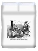 Railroad Safety, 1853 Duvet Cover