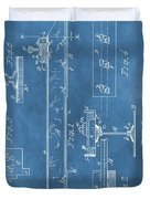 Railroad Tie Patent On Blue Duvet Cover