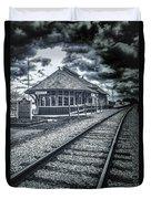 Railroad Ties Marlette Michigan Duvet Cover