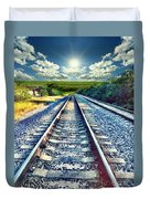 Railroad To Heaven Duvet Cover