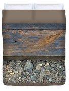 Railroad Track Closeup Background Duvet Cover