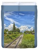 Railroad Track Duvet Cover