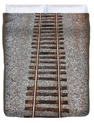 Railroad Track With Gravel Bed Duvet Cover