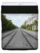 Railroad Tracks Duvet Cover