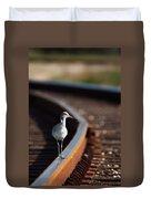 Railroaded Willet  Duvet Cover