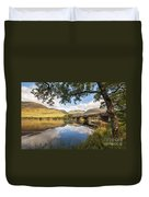 Railway Viaduct Over River Orchy Duvet Cover