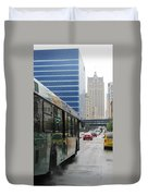 Rain And Bus Duvet Cover