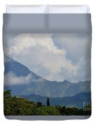 Rain Clouds Over The Makalehas Duvet Cover