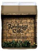 Rain Forest Cafe Signage Downtown Disneyland 01 Duvet Cover