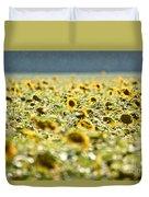 Rain On The Sunflowers Duvet Cover