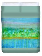Rain  Original Contemporary Acrylic Painting On Canvas Duvet Cover