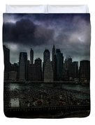 Rain Showers Likely Over Downtown Manhattan Duvet Cover