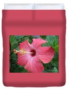 Rain Soaked Hibiscus Duvet Cover