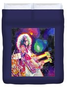 Rain Song Jimmy Page Duvet Cover