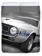 Rain Won't Spoil My Fun - 1969 Shelby Gt500 Mustang Duvet Cover