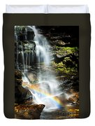 Rainbow And Falls Duvet Cover