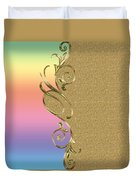 Rainbow And Gold Duvet Cover