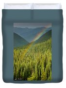 Rainbow And Sunlit Trees Duvet Cover