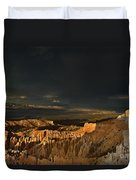 Rainbow And Thunderstorm Bryce Canyon National Park Ut Duvet Cover