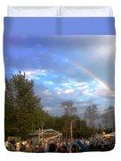 Rainbow At Wind Gap Park Duvet Cover