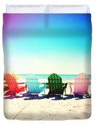 Rainbow Beach Photography Light Leaks2 Duvet Cover