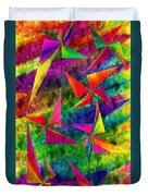 Rainbow Bliss - Pin Wheels - Painterly - Abstract - V Duvet Cover