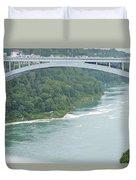 Rainbow Bridge Over Niagara Duvet Cover