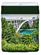 Rainbow Bridge View Duvet Cover