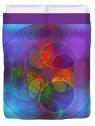 Rainbow Bubbles Duvet Cover by Klara Acel